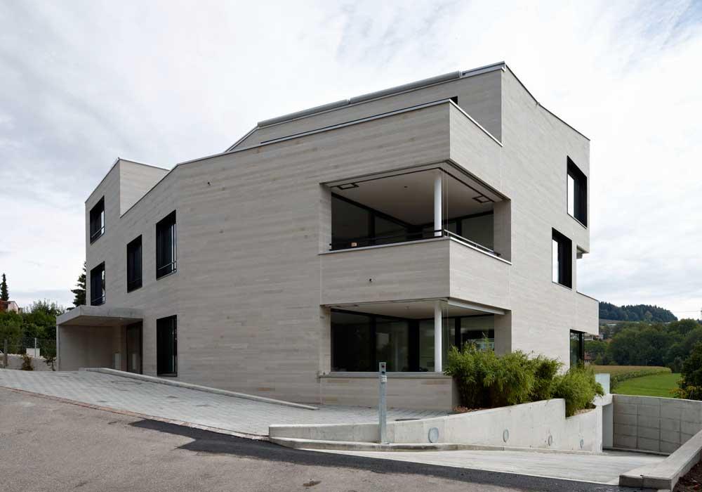 3-Familienhaus Fassade Generalunternehmer Schweiz